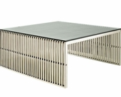 Modway Gridiron Coffee Table in Silver MY-EEI-284
