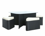 Modway Hub Dining Set in Espresso White MY-EEI-991