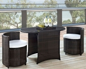 Modway Katonti 3 Piece Dining Set in Brown White MY-EEI-1060