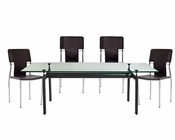 Modway LC6 Dining Set with Studio Chairs MY-EEI-521-SET1