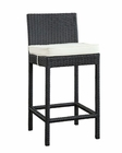 Modway Lift Bar Stool in Espresso White MY-EEI-1006