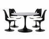 Modway Lippa Dining Set in Black MY-EEI-854B