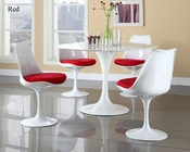 Modway Lippa Dining Set in White MY-EEI-854