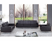 Modway Loft 3 Piece Leather Sofa Set MY-EEI-862