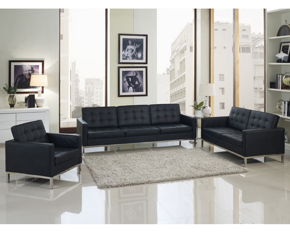 Strange Modway Loft 4 Piece Leather Sofa Set My Eei 861 Machost Co Dining Chair Design Ideas Machostcouk