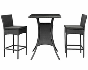 Modway Patio Cerveza Pub Set in Black MY-EEI835B
