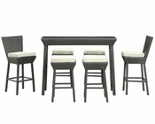 Modway Patio Napa Pub Set in Espresso/ White MY-EEI617EW