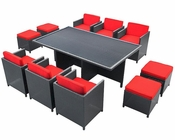 Modway Patio Reversal Dining Set in Espresso/ Red MY-EEI644ER