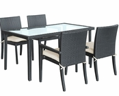 Modway Patio Viva Dining Set in Espresso MY-EEI846E