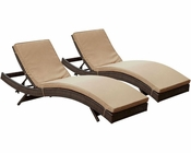 Modway Peer Chaise in Brown Mocha MY-EEI-1172 (Set of 2)