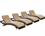 Modway Peer Chaise in Brown Mocha MY-EEI-1176 (Set of 4)