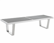 Modway Sauna Bench in Silver MY-EEI-246-247