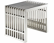 Modway Small Gridiron Stainless Steel Bench MY-EEI-569