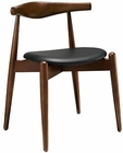 Modway StalwArt Dining Side Chair in Dark Walnut Black MY-EEI-1080