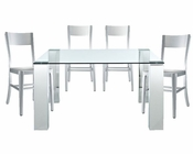 Modway Staunch Dining Set with Milan Chairs MY-EEI-678-SET2