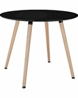Modway Track Circular Dining Table in Black MY-EEI-1055