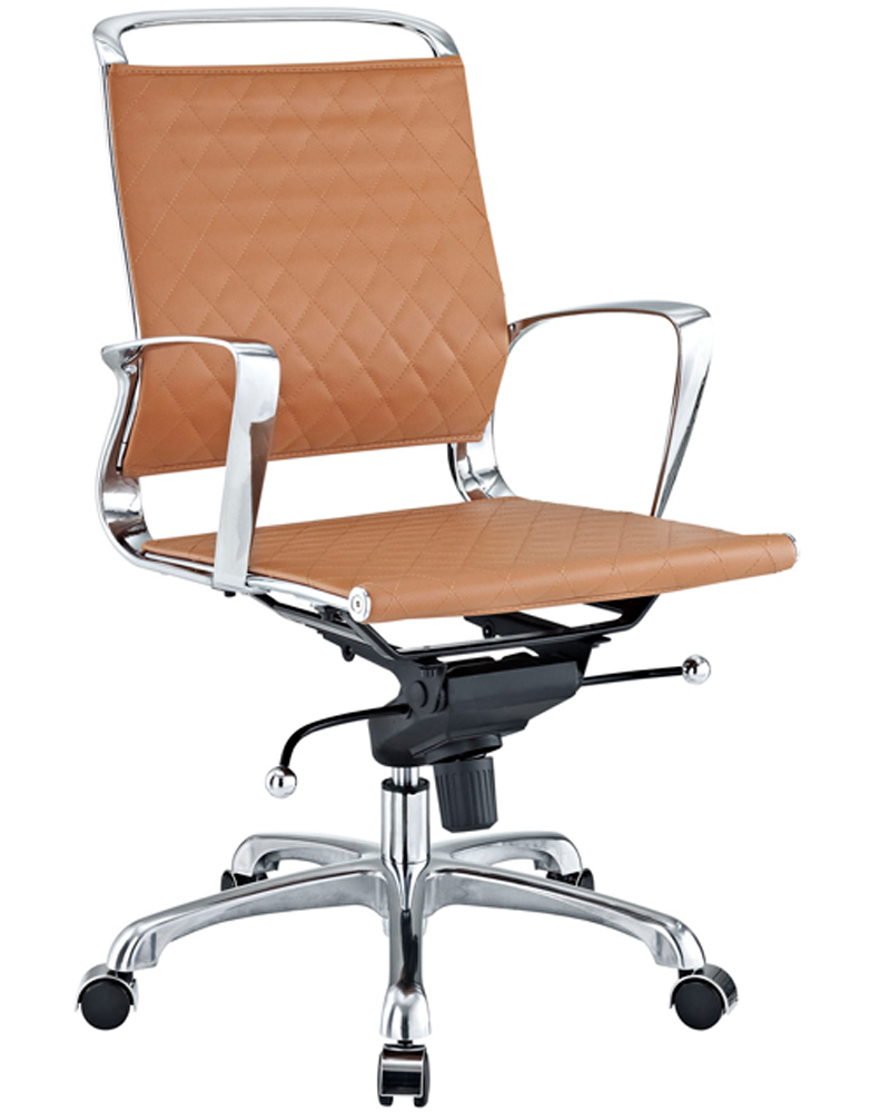 Modway vibe modern leather midback office chair my eei 227 for Modern leather office chairs