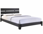 Modway Zoe Queen Vinyl Bed Frame in Black MY-MOD-5128