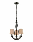 ELK Morrison 3 Light Chandelier in Oil Rubbed Bronze EK-63073-3