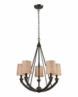 ELK Morrison 5 Light Chandelier in Oil Rubbed Bronze EK-63074-5