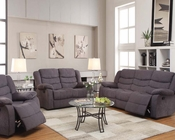 Motion Sofa Jacinta Gray Velvet by Acme Furniture AC51410SET