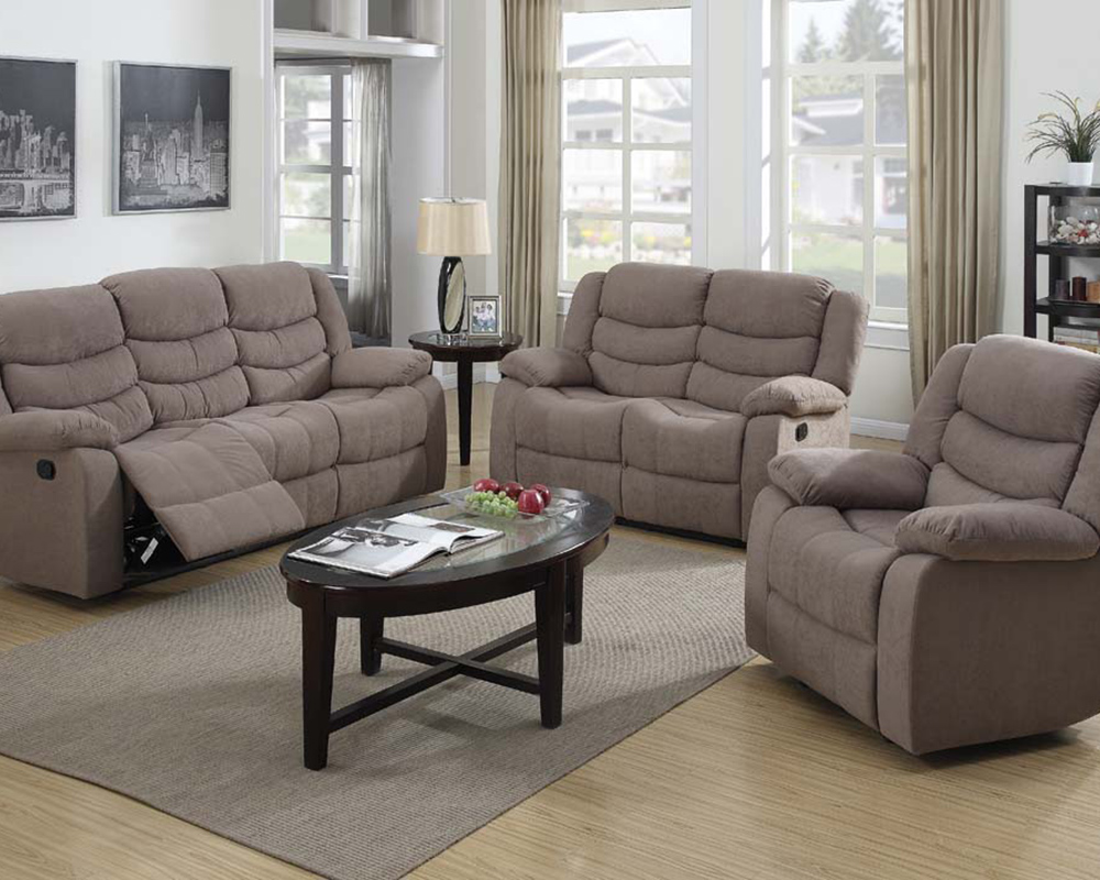 Motion Sofa Set Jacinta Light Brown Velvet By Acme Ac51415set