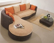 Multicolor Fabric Contemporary Sectional Sofa Set 44LK66A