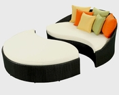 Mystique Outdoor Daybed in Espresso, White by Modway MY-EEI981EW