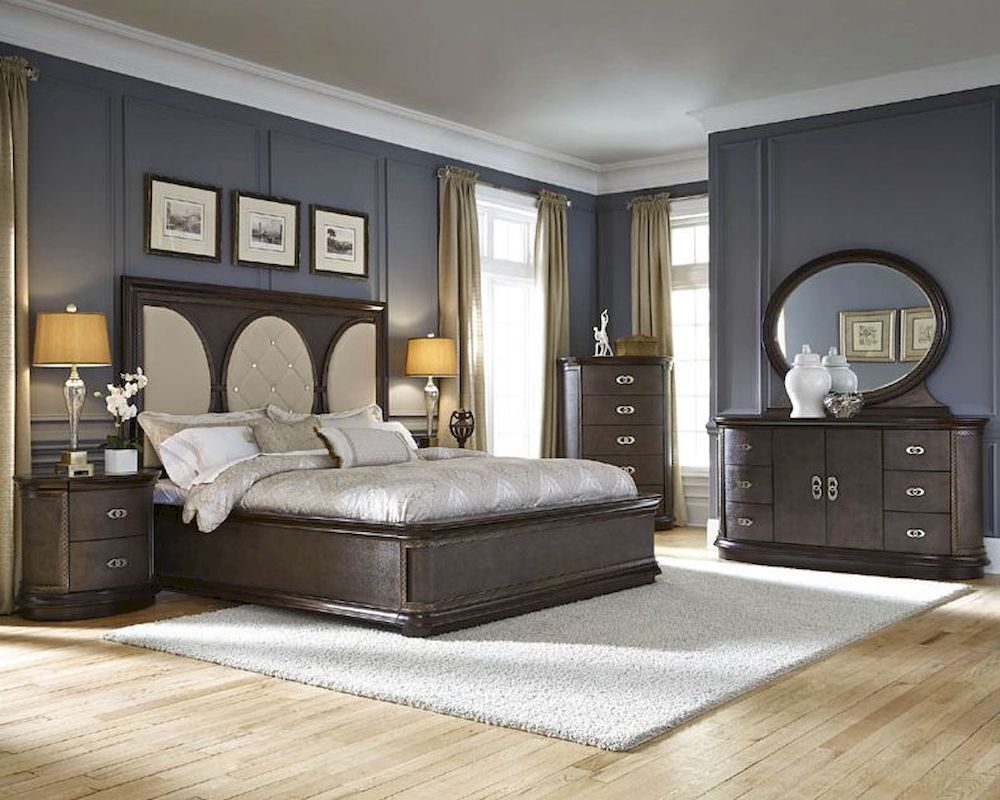 Najarian Bedroom Set w/ Panel Bed Obsessions NA-OB3SET
