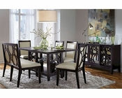 Najarian Formal Dining Set w/ Rectangle Wood Table Planet NA-PL7SET