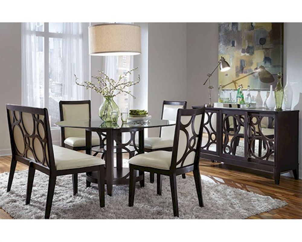 Najarian Formal Dining Set W Round Table Planet Na Pl7set
