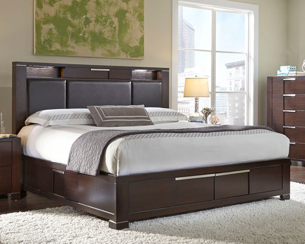 Najarian Furniture Contemporary Bedroom Set Studio Na Stbset: Najarian Furniture Bed W/ Storage Footboard Studio NA-STBED