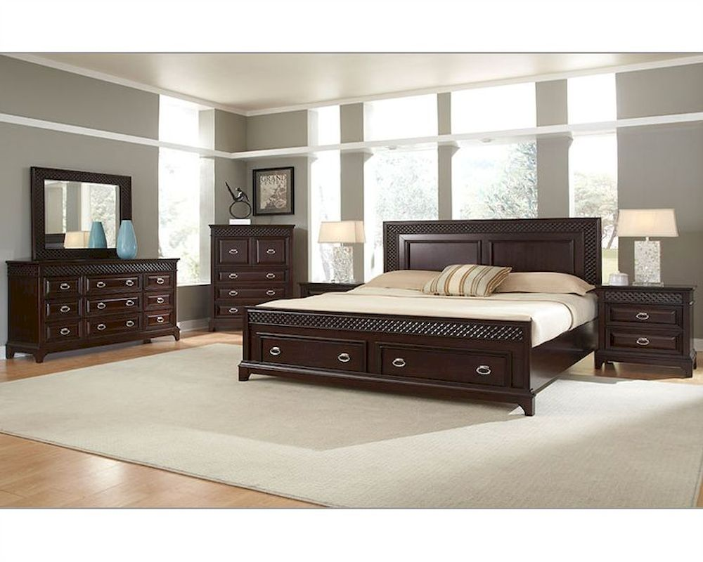 Najarian Furniture Bedroom Set With Storage Sonoma NA SN 4SET
