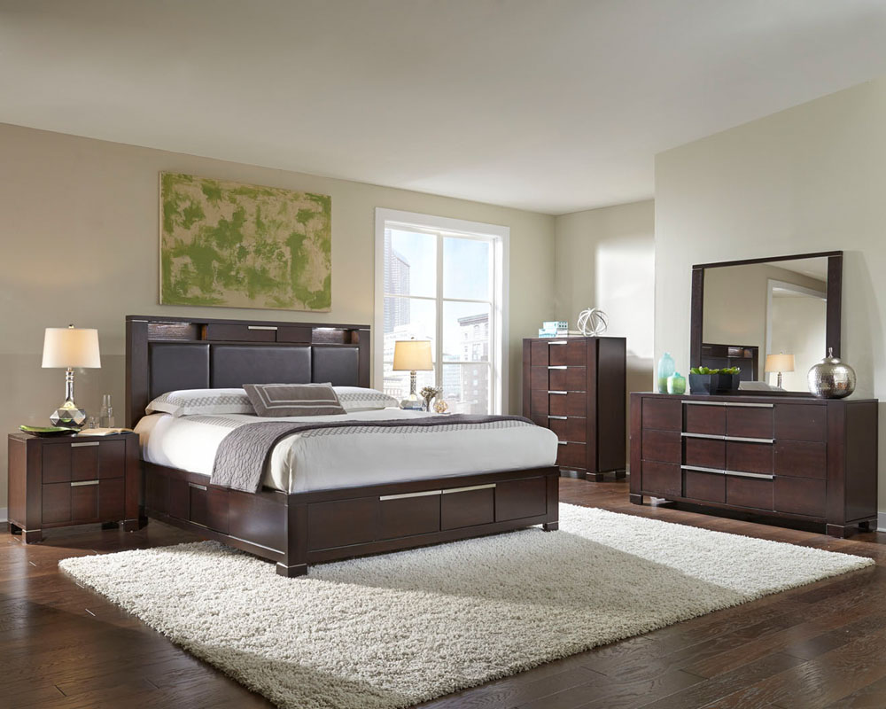 Najarian furniture contemporary bedroom set studio na stbset for Modern bedroom sets