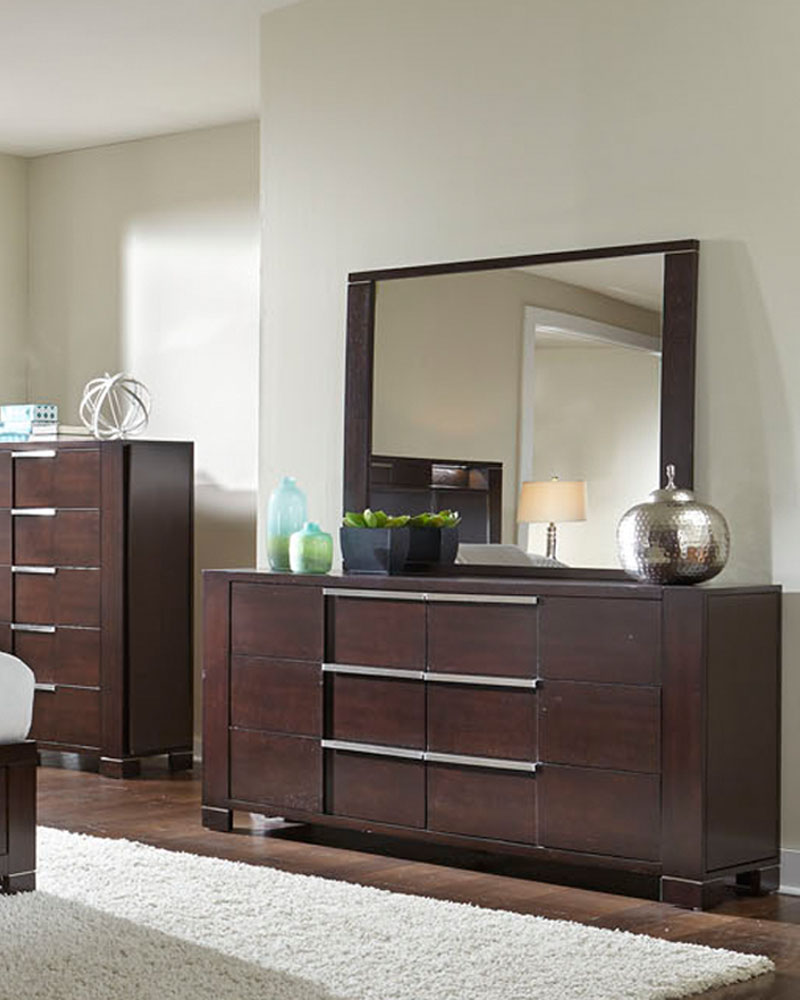 Najarian Furniture Contemporary Bedroom Set Studio Na Stbset: Najarian Furniture Dresser And Mirror Studio NA-STDRMR