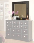 Najarian Furniture Palazzo Bedroom Mirror in Ebony Finish NA-PAMRE