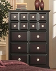 Najarian Furniture Palazzo Chest of Drawers in Ebony Finish NA-PACHE