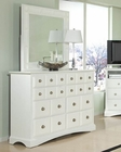 Najarian Furniture Palazzo Dresser with Mirror in White NA-PADRMRW