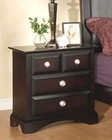 Najarian Furniture Palazzo Night Stand in Ebony Finish NA-PANSE