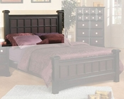 Najarian Furniture Palazzo Post Headboard in Ebony Finish NA-PAPSHBE
