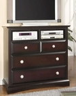 Najarian Furniture Palazzo TV Chest in Ebony Finish NA-PATVCHE
