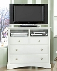 Najarian Furniture Palazzo TV Chest in White NA-PATVCHW