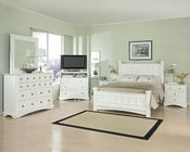 Najarian Furniture Palazzo Youth Bedroom Set in White NA-PA3SETW
