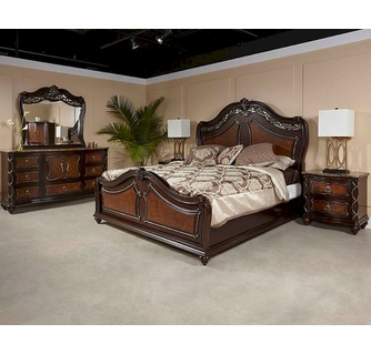 Najarian Furniture Traditional Bedroom Set Venice NA VEBSET Bedrooms