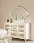 Najarian Furniture Youth Dresser and Mirror Paris NA-PR-YDRMR