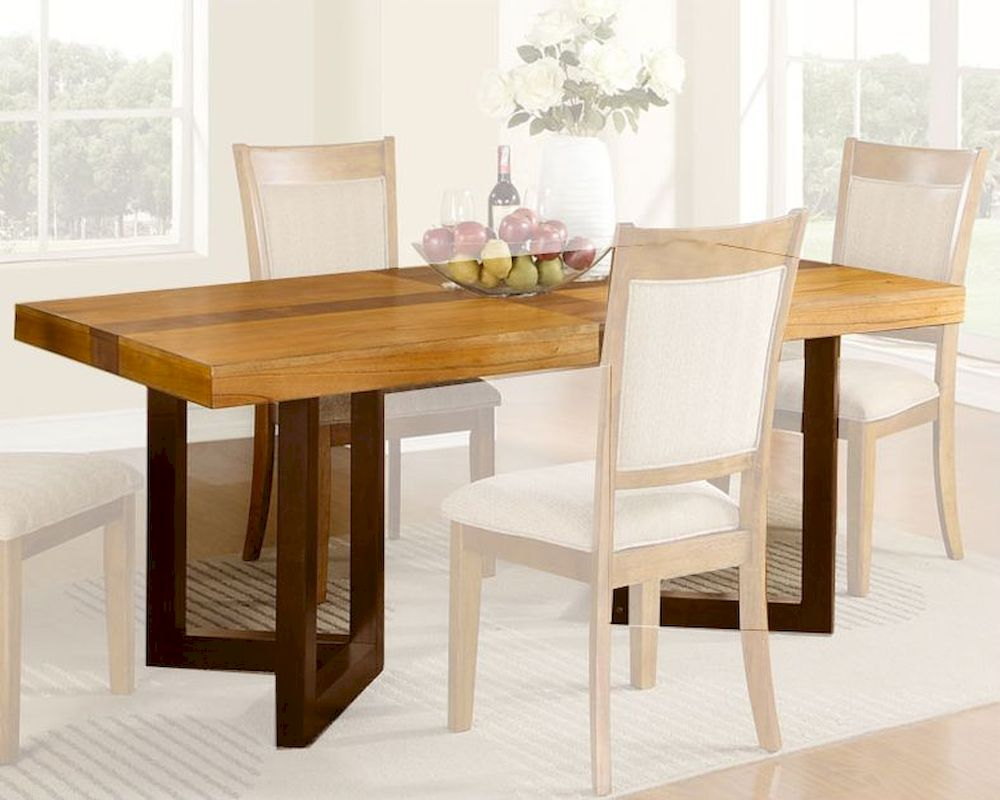 Natural finish dining table mcfd118 t for Dining table finish