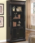 Nicolas Bookcase with Carvings and Enclosed Storage Cabinet CO800923