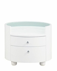 Night Stand Elma Modern Style in White 35B33