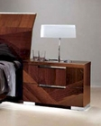 Night Stand in High Gloss Walnut Finish 33B163