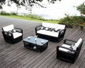 Nora Dark Finish Outdoor Patio 4pc Sofa Set 44PH18D